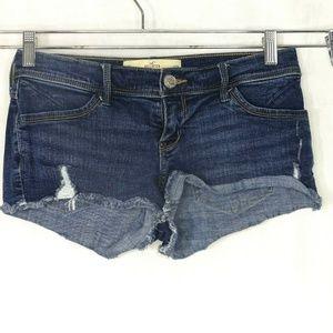 Hollister Low Rise Short Shorts Denim Jeans Size 5